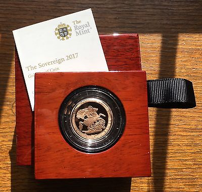2017 Royal Mint 200th Anniversary Gold Proof Sovereign Boxed RARE!