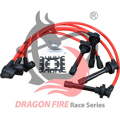 New 10.2mm Dragon Fire Race Series Spark Plug Wire Set For All Honda 4 Cylinders