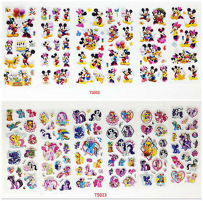hot! 12 pcs/lot 3D Children Stereoscopic Stickers  PVC Puffy Stickers Sheet gift