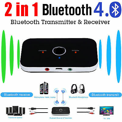 Wireless Bluetooth Transmitter Receiver TV PC Stereo A2DP Audio Music Adapter UK