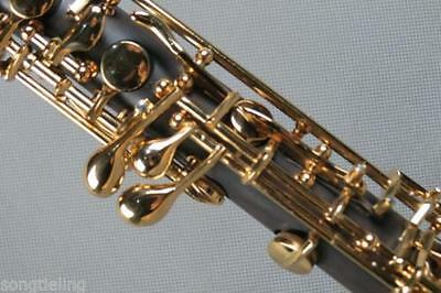 Excellent ebony concert semiautomatic C key oboe,gold-plating #7020