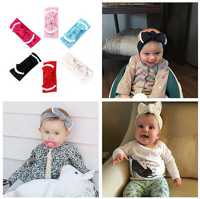 US Kids Girl Baby Toddler Bow Headband Hair Band Accessories Headwear Head Wrap