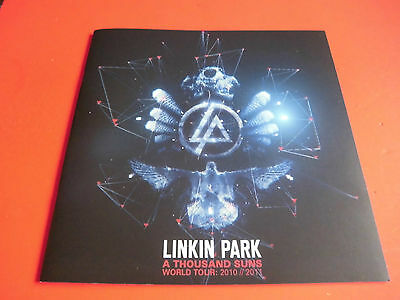 VERY RARE! Linkin Park  A THOUSAND SUNS WORLD TOUR 2010 Program  brochure