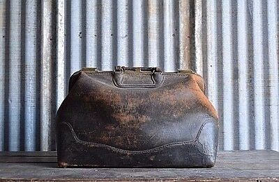 Antique Genuine Leather Doctor's Bag - Medical Bag - Leather bag - Medicine