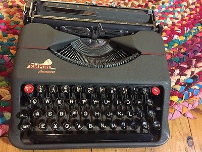 Vintage Empire Aristocrat Typewriter, metal , Made in England