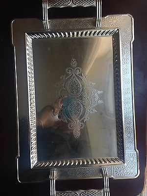 silver plated serving tray By Kingsville