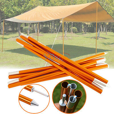 Camping Canopy Tent Rain Tarp Trail Awning Sunshade Poles Rods Support Bars MP