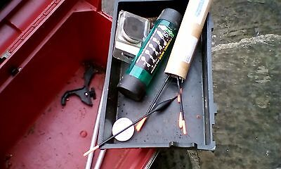 galacey fishing box with wheels and seat and gear