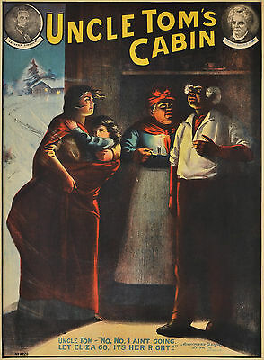 """Uncle Tom's Cabin"" c1890s colour lithograph poster"