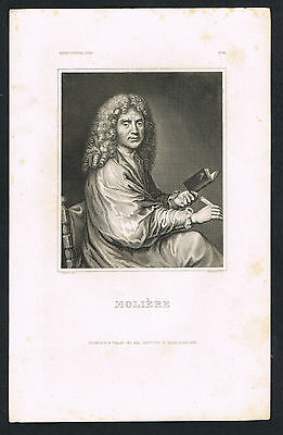Stahlstich, Moliere, steel engraving (113)