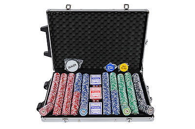 Tournament Poker Chips - 1000 Piece Numbered Poker Set in Low Numbers