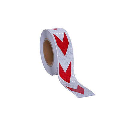 """Conspicuity Tape 2"""" × 82' DOT-C2 Approved Reflective Trailer Red White  1 Roll"""