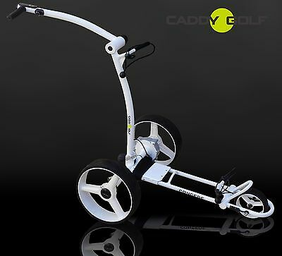 CADDY-GOLF concede ELEKTRO TROLLEY WEISS DISTANZTIMER, MEMORY, 350W MOTOR NEU