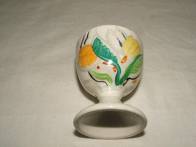 Susie Cooper /grays Handpainted Tulips Footed Egg-Cup Rare & Truly Stunning