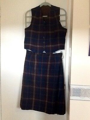 Traditional Scottish Vintage Kilt With Matching Waistcoat