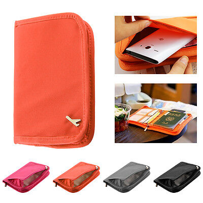 Travel Bag Wallet Document Organiser Zipped Passport Tickets ID Holder Case
