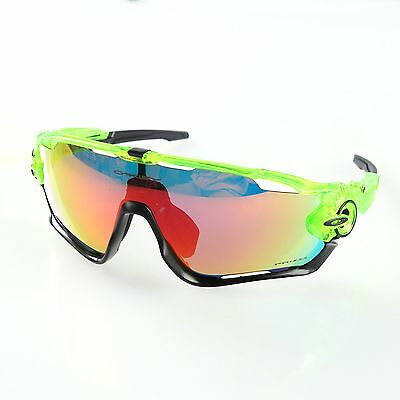 Green Sports Polarized Sunglasses Outdoor Cycling Glasses Eyewear Goggles 5 Lens