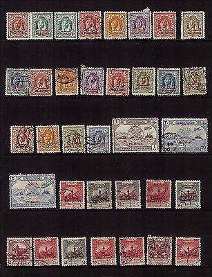 Jordan Transjordan Occupation of Palestine Overprint stamps collection / sets #2