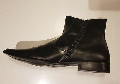 Aquila Holmes Top Quality Men's Black Leather Boots Size 48