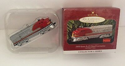 1997 Hallmark 1950 Santa Fe F3 Diesel Locomotive Lionel Train Ornament NIB