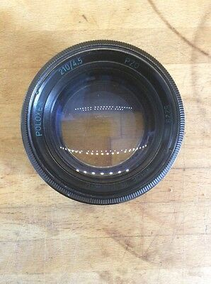"""Poloxer 210/4.5 Large Format lens 5x7"""" Tessar type, made in Poland"""