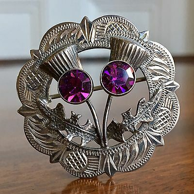 A Pretty Victorian Style Scottish Silver Brooch, Hallmark Edinburgh 1962.