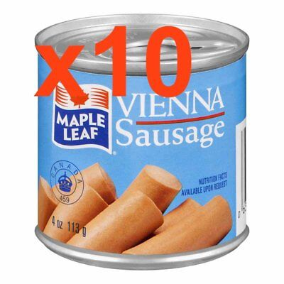 Maple Leaf Vienna Sausage from Canada 10 Cans X 113g = 1130g Total