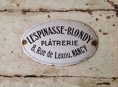 Antique French Enamel Sign Of A Plasterer 1900's