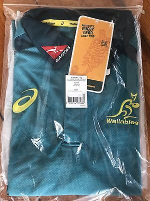 Wallabies 2017 Players Training Polo XXL 1019 Larkspur Brand New With Tags