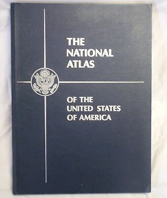 LARGE VINTAGE THE NATIONAL ATLAS OF THE UNITED STATES OF AMERICA 5.7kg MAPS USA