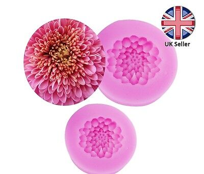 3D Chrysanthemum Flower Silicone Mould for Cake Icing Decoration