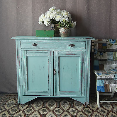 Antique Edwardian Chalk Paint Sideboard / Cabinet, Shabby Chic / French Country