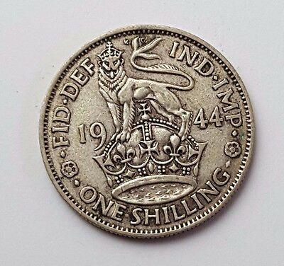 1944 - Silver - One Shilling - Great Britain - King George VI - UK Coin
