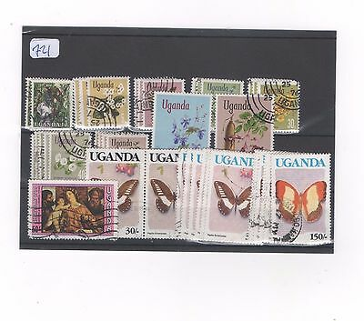Uganda lot of 40 stamps from first series and onwards