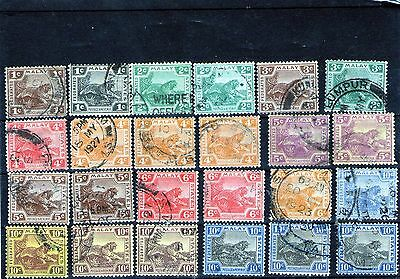 Malaya Used Tiger Stamps Unsorted