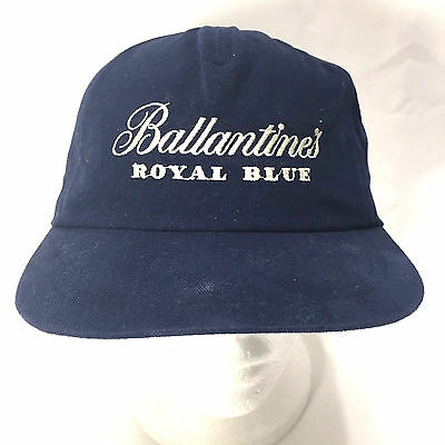 Ballantine's Royal Blue Scotch Whiskey Snapback Baseball Hat Cap