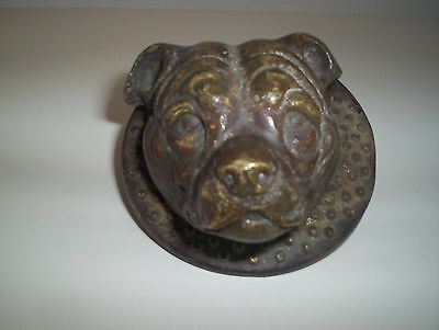 Vintage, Staffordshire Bull Terrier, Brass Door Knocker.