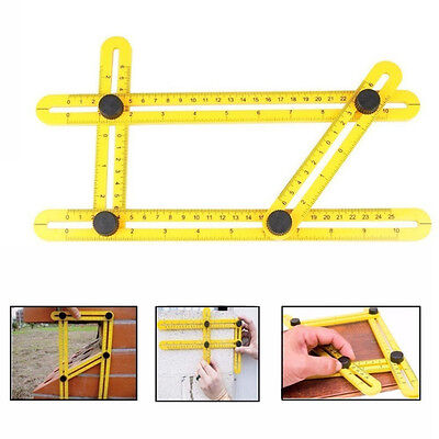 Easy Measuring Angle-izer Four-Sided Ruler Mechanism Template Slide Tool