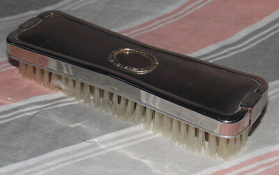 VINTAGE SILVERED METAL DRESSING TABLE VANITY BRUSH Comb  clothes/hair