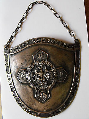 Poland/Polish pre-WWII  gorget of 21st Infantry Regiment ryngraf badge