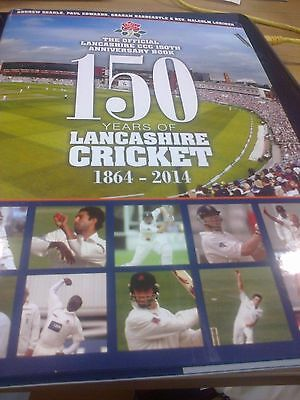 150 Years Of Lancashire Cricket Book Signed By 2017 Squad