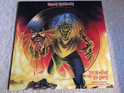 Iron Maiden - The Number Of The Beast (EMI,UK,2005) 12' Picture disc - EX/NM