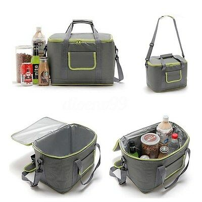 AU Foldable 18L Waterproof Insulated Thermal Cooler Bag Picnic Lunch Box Storage