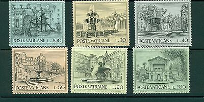 Lot 593..Vatican..selection of 6 MNH 1975 Architecture Stamps