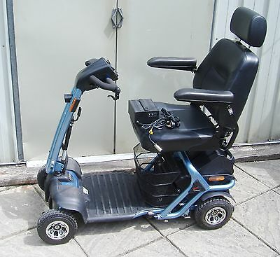 LITEWAY MAX GRIP (Megalite) 8.Transportable 8 mph  Mobility Scooter,Black Tyres