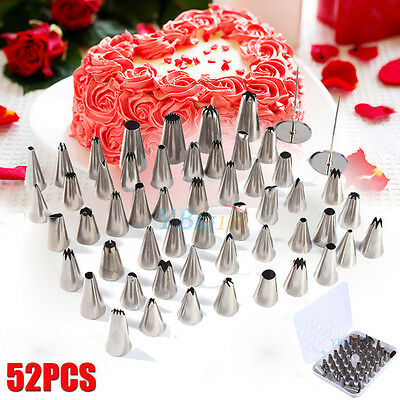 52Pcs Icing Piping Nozzles Pastry Tips Cake Decorating Pastry Tips Tool Set Home