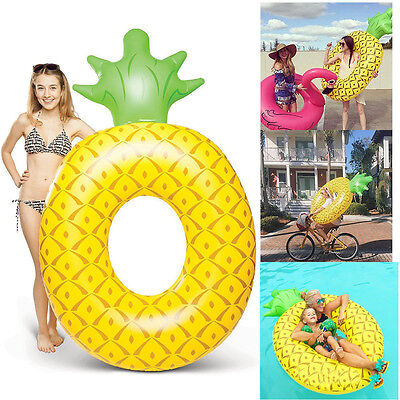 HOT Fun Giant Pineapple Inflatable Pool Float Swimming Raft Summer Water Lounger