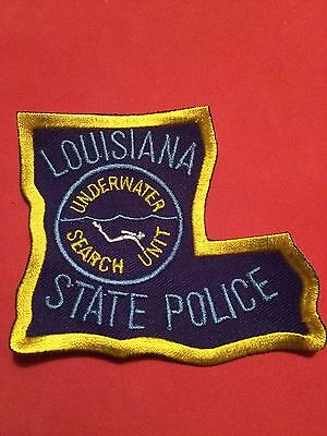 Louisiana State Police Underwater Search Unit Patch dive diver
