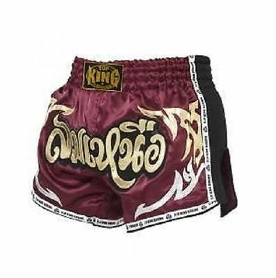 "Top King Muay Thai Kick Boxing Shorts ""north Wide"" Maroon M, L, Xl, Xxl Au Stock"