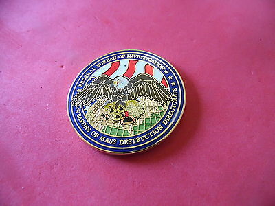 FBI Weapons of Mass Destruction Police Challenge coin